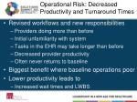 operational risk decreased productivity and turnaround times