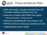 privacy and security risks