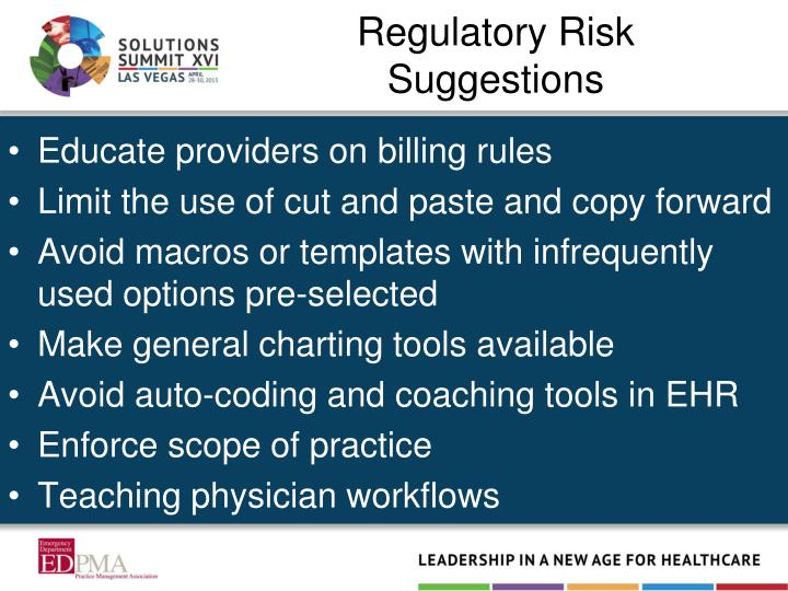 Regulatory Risk Suggestions