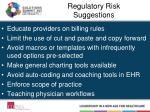 regulatory risk suggestions