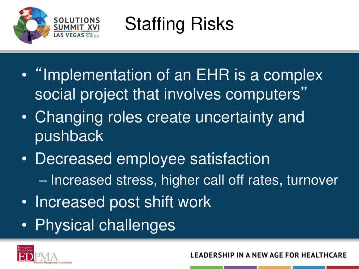 Staffing Risks