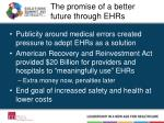 the promise of a better future through ehr s