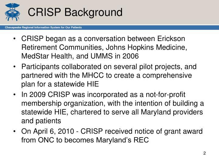 CRISP Background