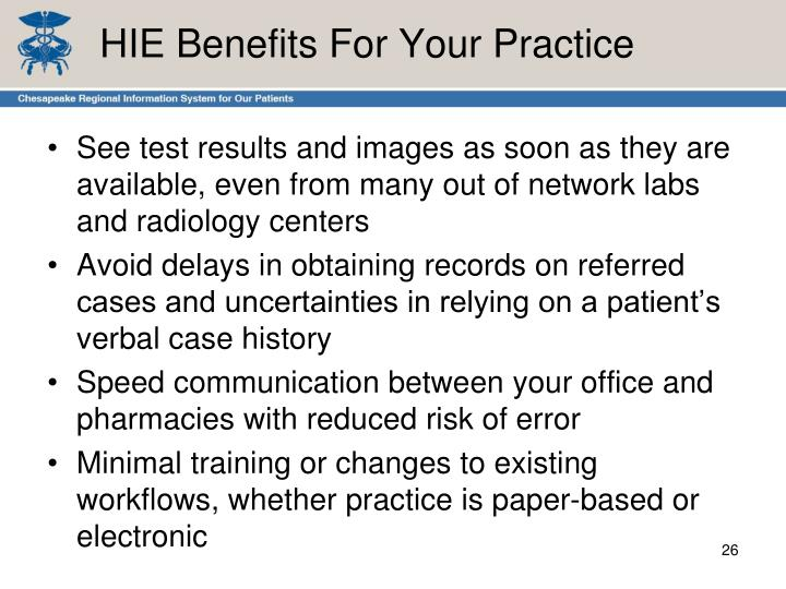 HIE Benefits For Your Practice