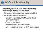 msos a provider s ally