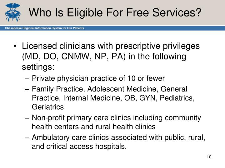 Who Is Eligible For Free Services?
