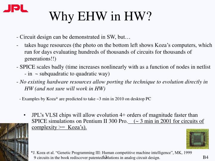 Why EHW in HW?