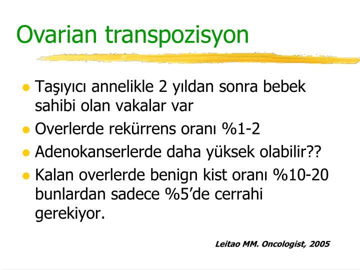 Ovarian transpo