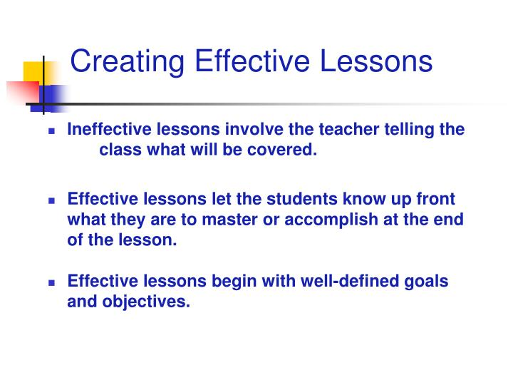 Creating Effective Lessons