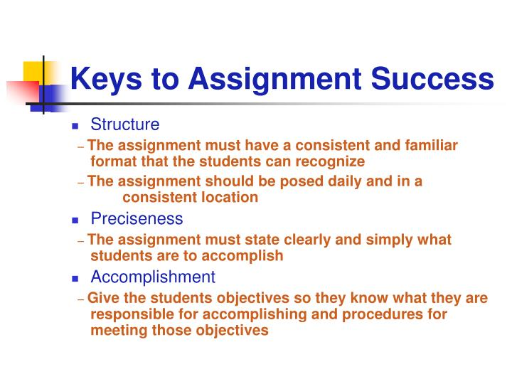 Keys to Assignment Success