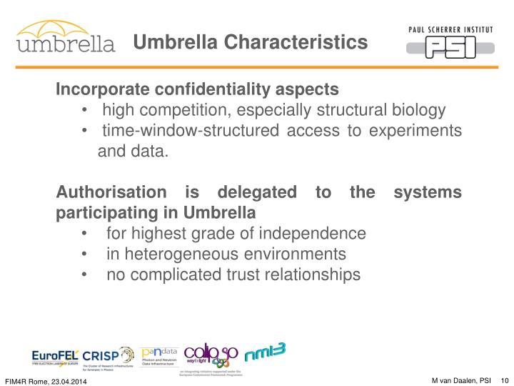 Umbrella Characteristics