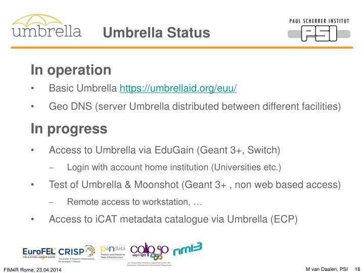 Umbrella Status