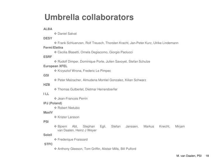 Umbrella collaborators