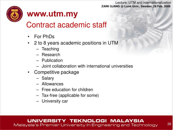 Contract academic staff