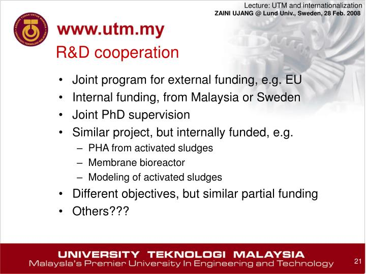 R&D cooperation