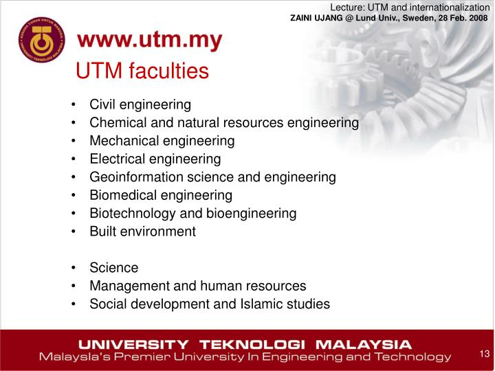 UTM faculties