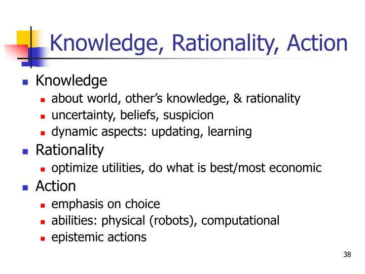 Knowledge, Rationality, Action