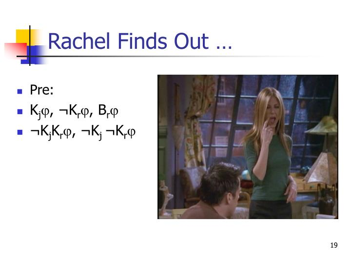 Rachel Finds Out …