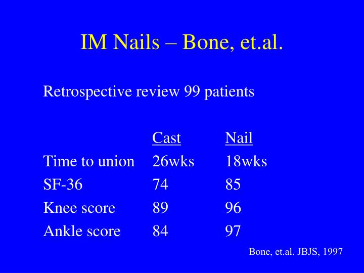 IM Nails – Bone, et.al.