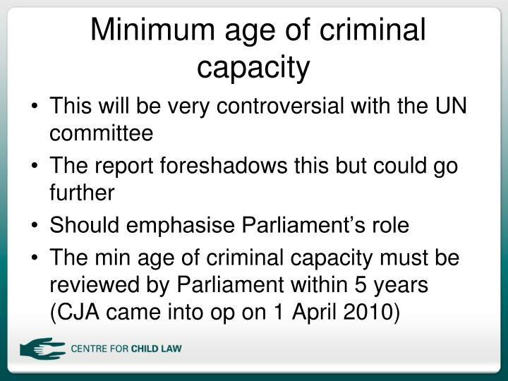 Minimum age of criminal capacity