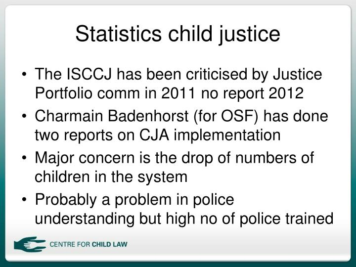 Statistics child justice