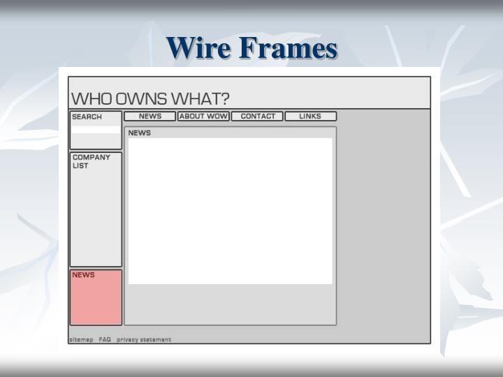 Wire Frames