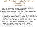 main requirements for sensors and observations ioccg report 13
