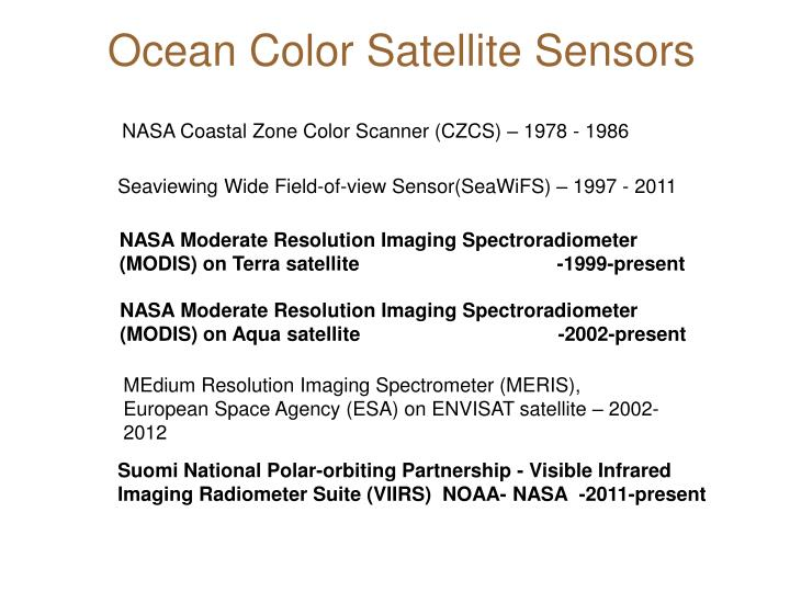 Ocean Color Satellite Sensors