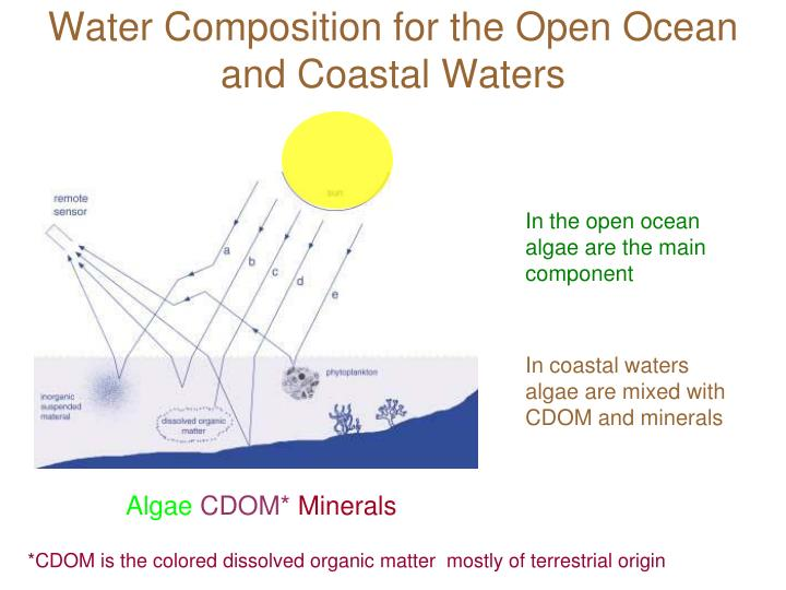 Water composition for the open ocean and coastal waters
