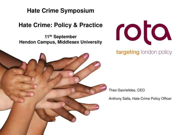 Hate Crime Symposium