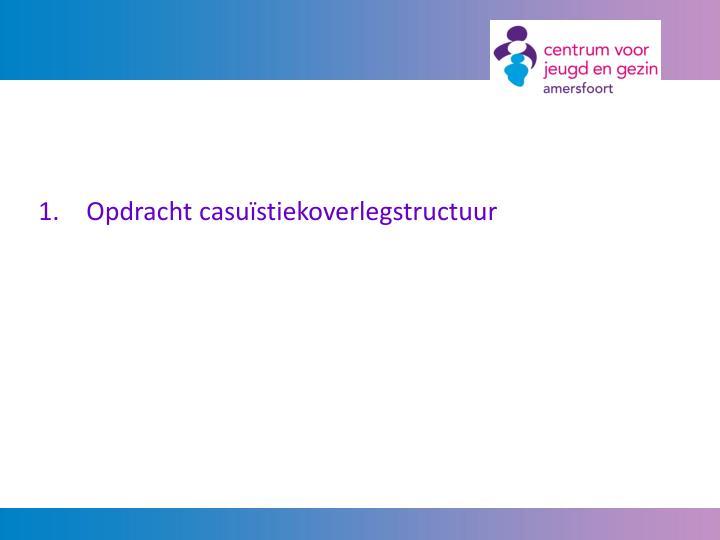 1. Opdracht casuïstiekoverlegstructuur
