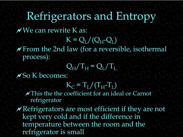 Refrigerators and Entropy