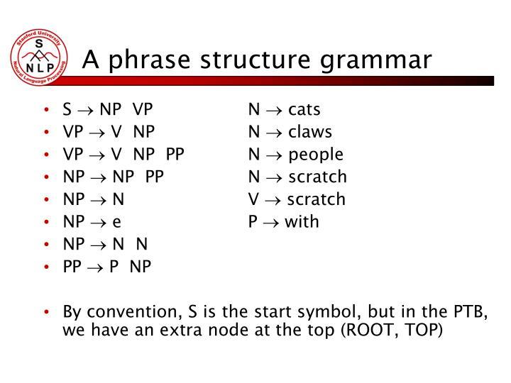 A phrase structure grammar