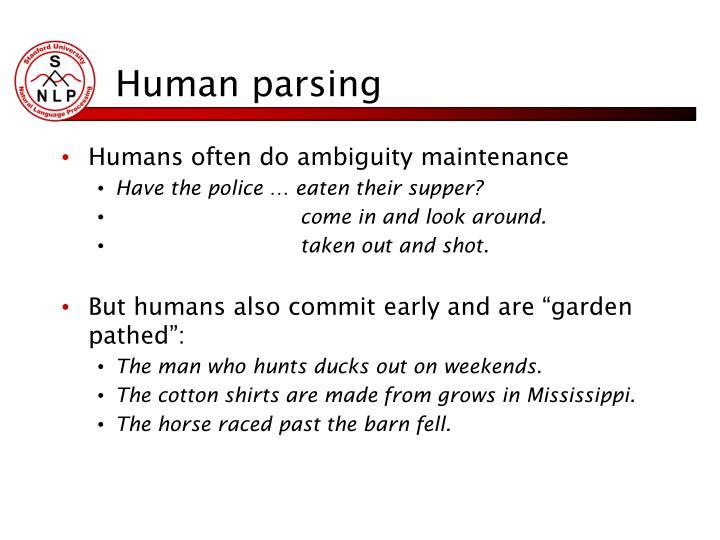 Human parsing