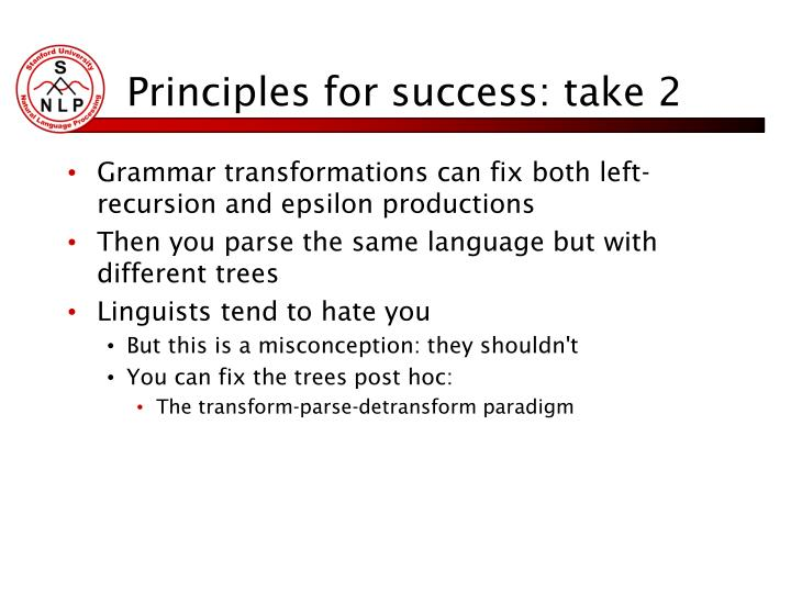 Principles for success: take 2