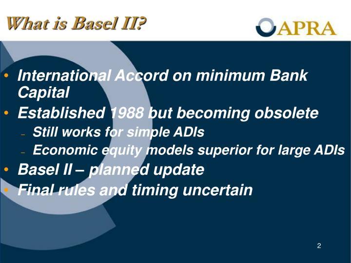 What is Basel II?