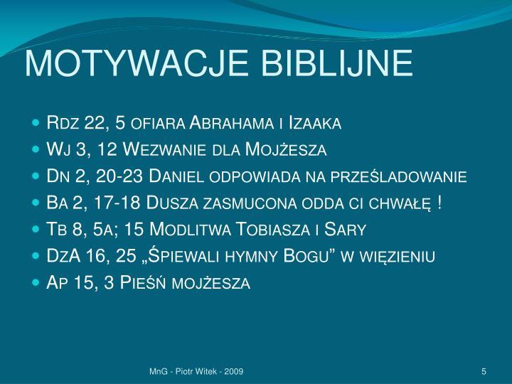 MOTYWACJE BIBLIJNE