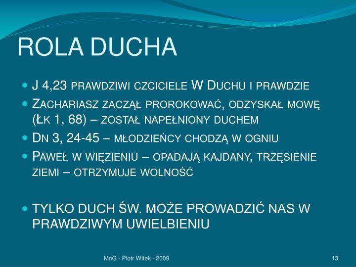 ROLA DUCHA