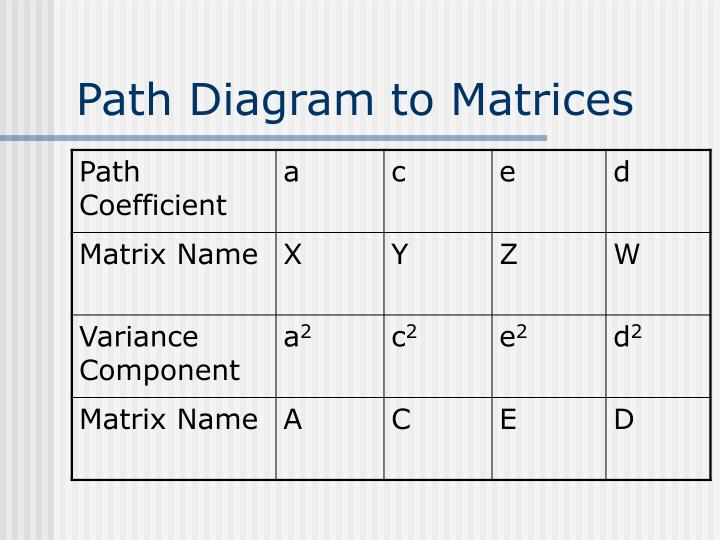 Path Diagram to Matrices