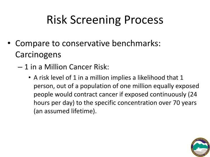 Risk Screening Process