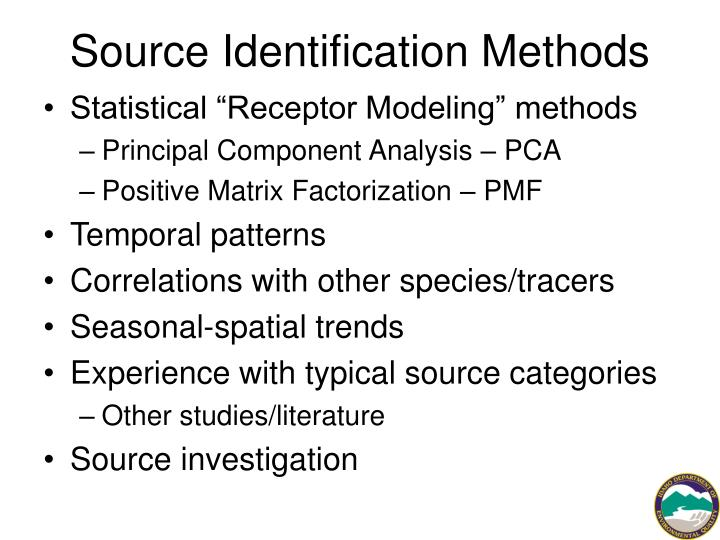Source Identification Methods