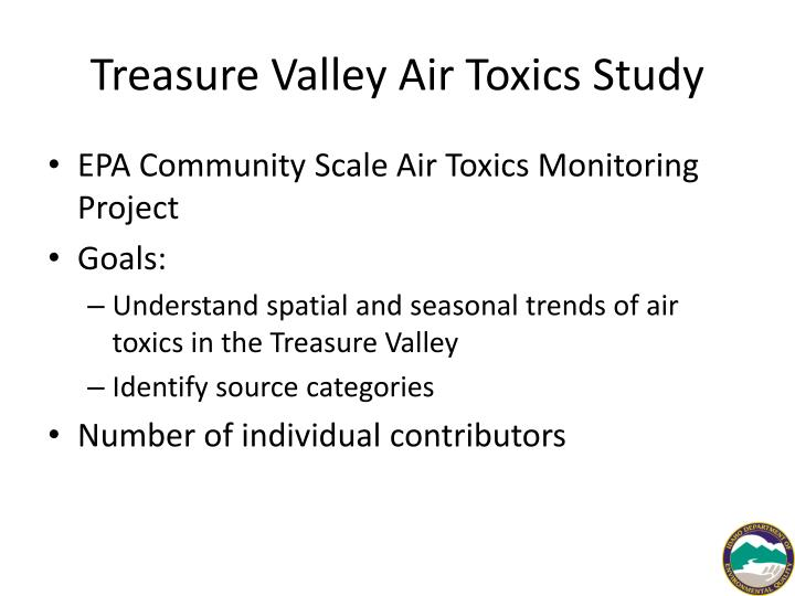 Treasure Valley Air Toxics Study