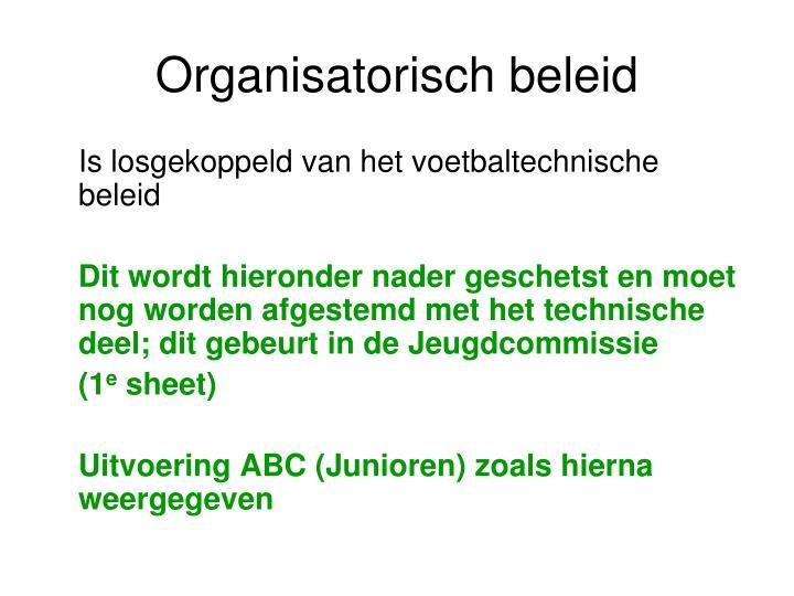 Organisatorisch beleid