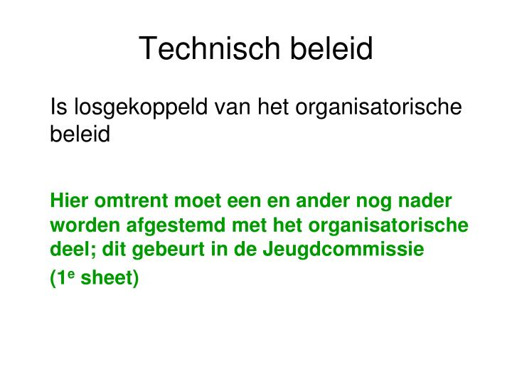 Technisch beleid
