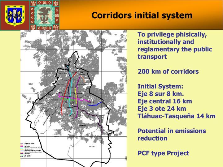 Corridors initial system