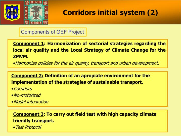 Corridors initial system (2)