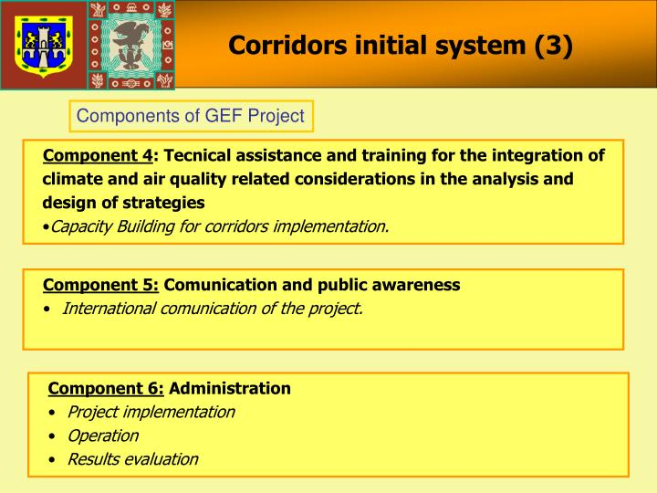 Corridors initial system (3)