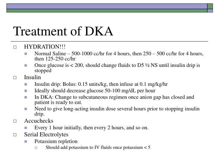 Treatment of DKA