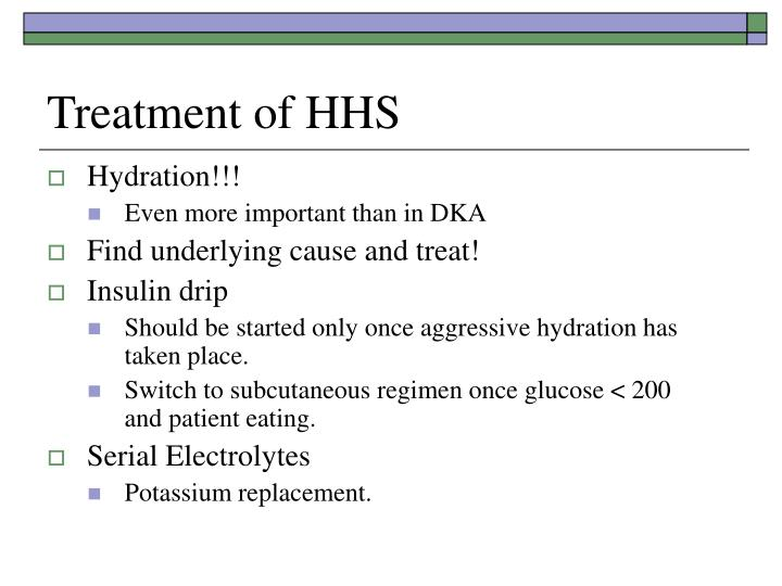 Treatment of HHS