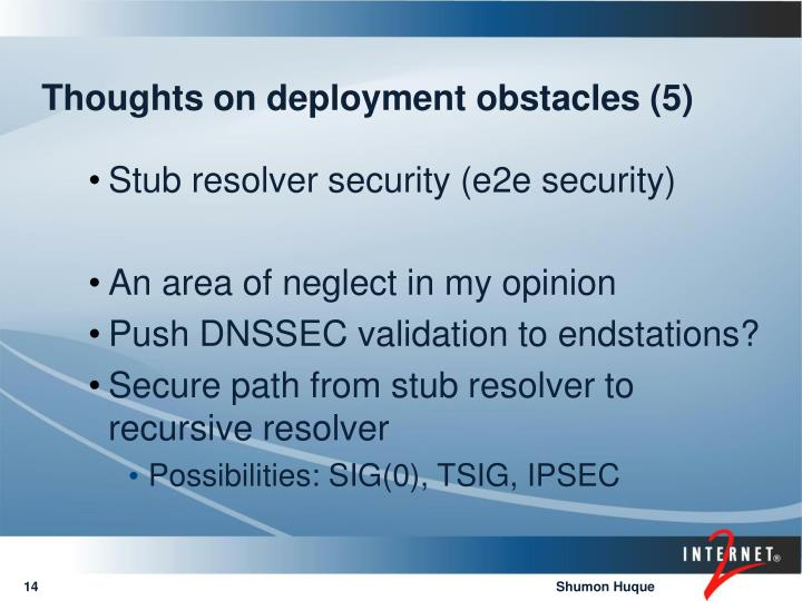 Thoughts on deployment obstacles (5)